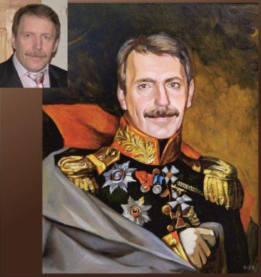 Настоящий портрет маслом на заказ в Костроме…