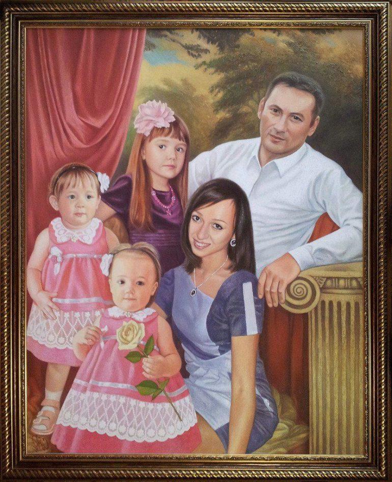 Семейный портрет маслом в Костроме — правильная традиция…