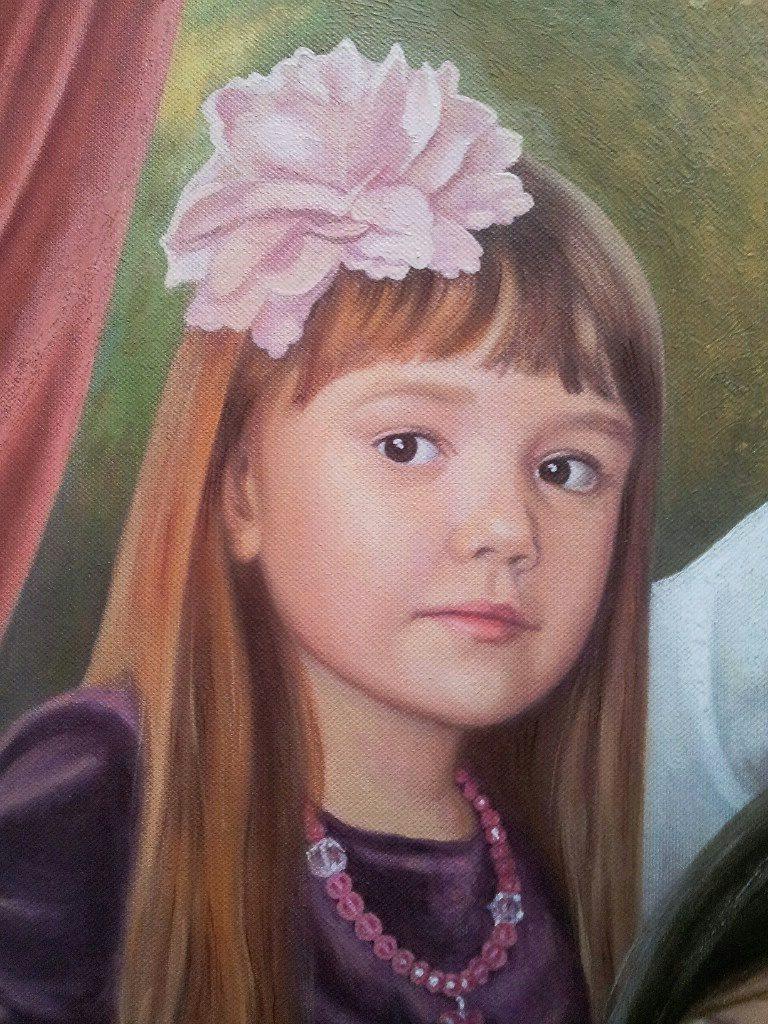 Семейный портрет на холсте Кострома