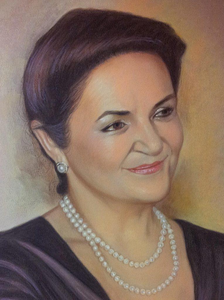 Портрет пастелью учителю