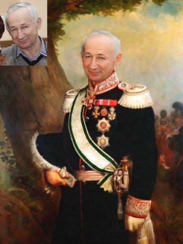 Где заказать исторический портрет по фото на холсте в Костроме?