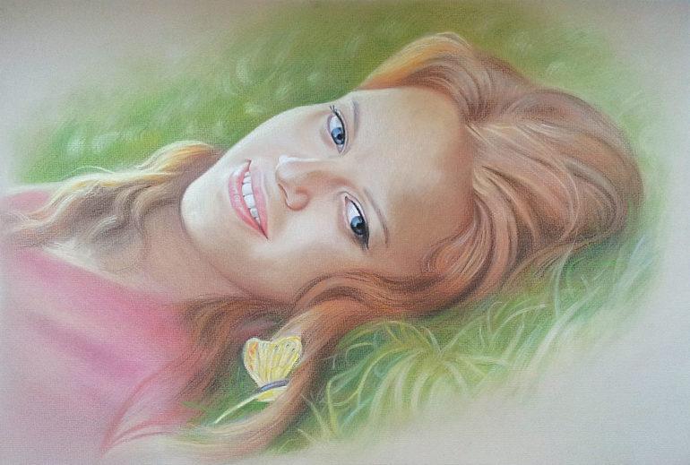 Настоящий портрет пастелью для любимой девушки в Костроме, просто и со вкусом!