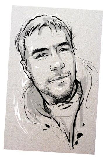 Портрет карандашом любимому мужу в Костроме…
