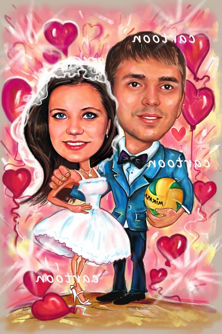 Свадебный шарж с оригинальным сюжетом в Костроме!