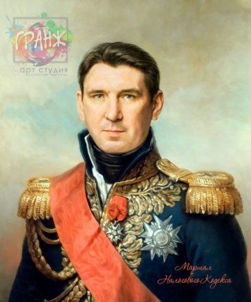 Портрет по фото на холсте в подарок мужчине на 23 февраля Кострома