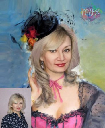 Заказать арт портрет по фото на холсте в Костроме