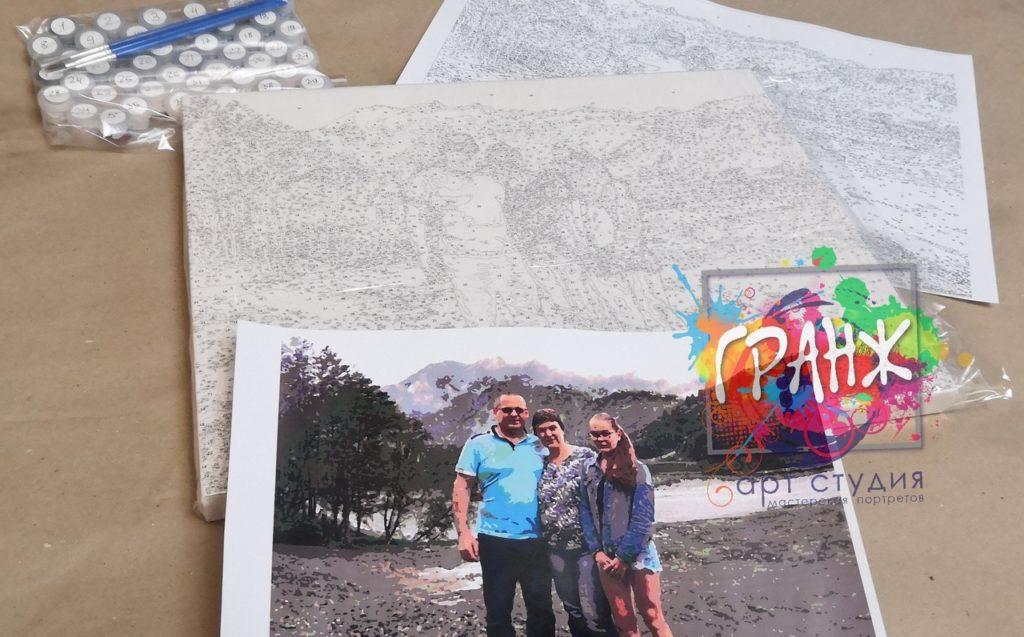 картин по номерам на холсте по фото в Костроме