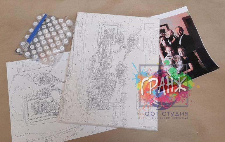 Картина по номерам по фото, портреты на холсте и дереве в Костроме